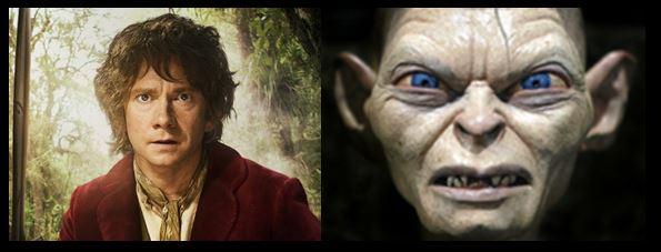 Hobbit and the Gollum