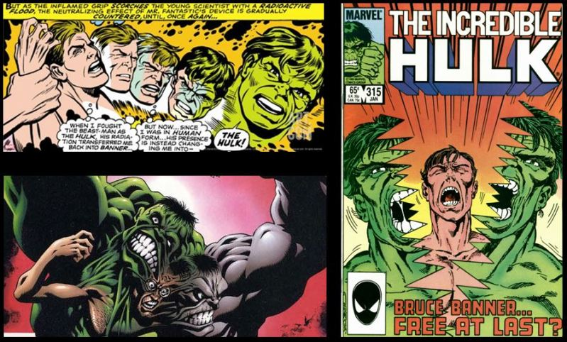 Hulk Transformation from Bruce Banner