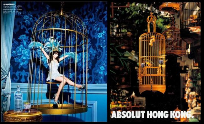 Singing Bird Absolut Vodka Advertisements