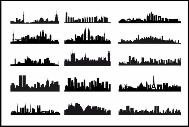 skylines of cities