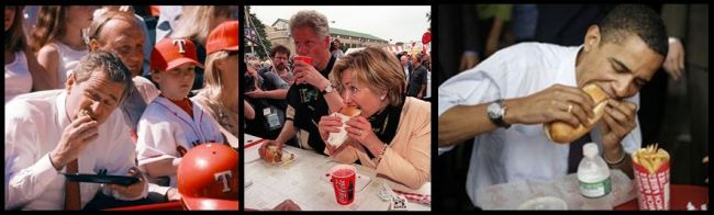 presidents eating