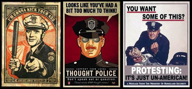 Authoritarian police in popular culture